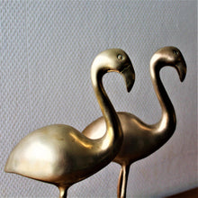 Afbeelding in Gallery-weergave laden, Messing flamingo