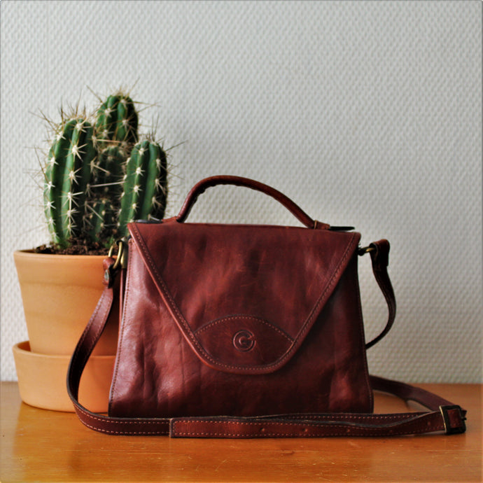 Bruinleren Crossbody Creation Gabrielle