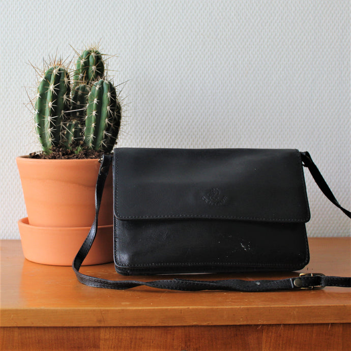 Zwartleren Crossbody Centaur