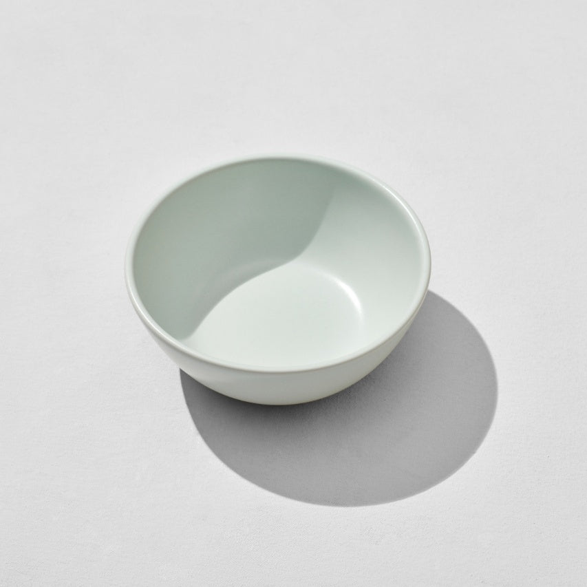 Overhead view of mint breakfast bowl