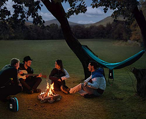 Lazy Monk Camping Hammock Double Portable Tent I 2 Person Outdoor Hammocks with Tree Straps - Best Accessories Kit + Bandana