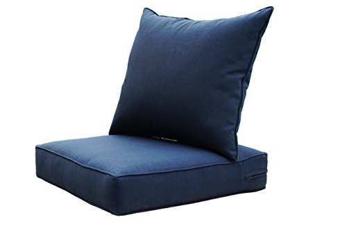[SewKer] Indoor/Outdoor Patio Deep Seat Cushion Set Navy Blue 3605