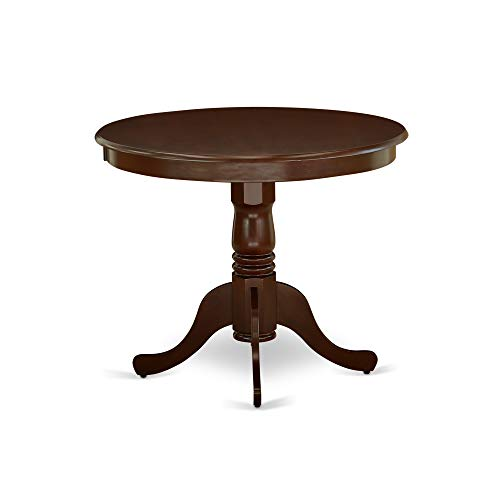 "East West Furniture ANT-BLK-TP Antique Table 36"" Round With Black And Cherry Finish"