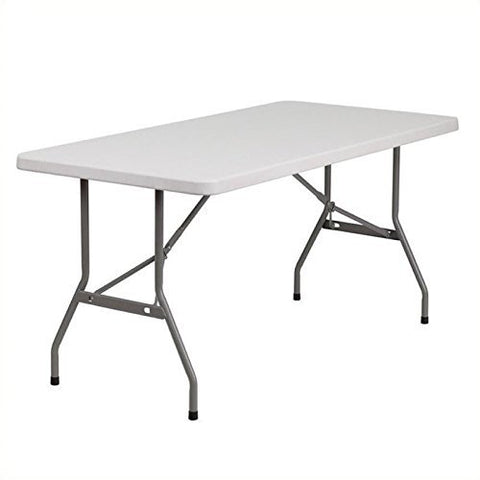 "Flash Furniture Plastic Folding Table (30"" W x 60"" L Granite)"