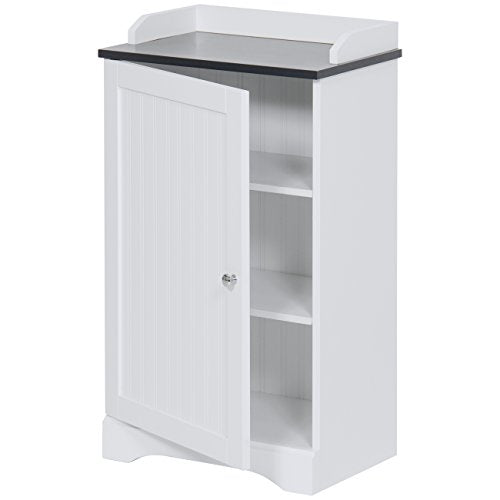 Best Choice Products Modern Contemporary Floor Cabinet Storage for Linens and Toiletries, White