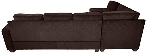 "Homelegance Emilio 110"" x 78"" Fabric Sectional Sofa, Chocolate"