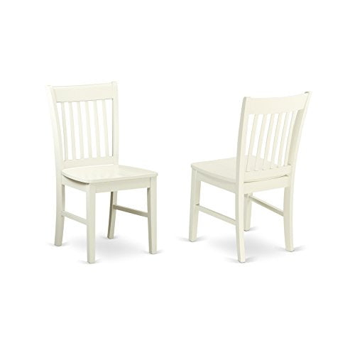 East West Furniture CANO6-LWH-W Capri Set Linen White