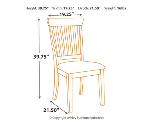 Signature Design by Ashley D583-02 Dining Chair, Beige