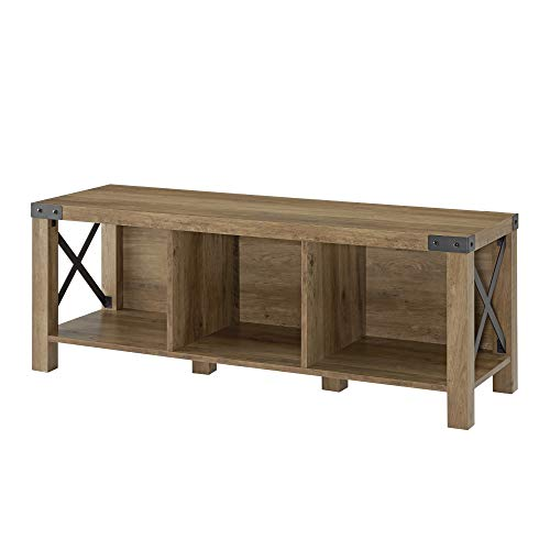 WE Furniture AZ48MXEBWO Entry Bench, White Oak