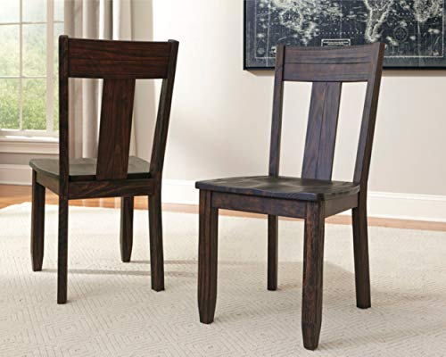 Ashley Furniture Signature Design - Glambrey Dining Room Chair Set - Scrolled Metal Accents - Set of 4 - Brown