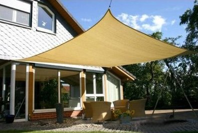 Heavy Duty Sun Sail Shade - X-Large 20'x16' Rectangle