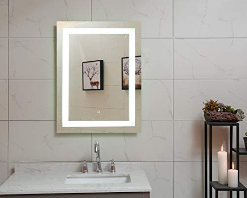 48X36 Inch LED Lighted Bathroom Mirror with Dimmable Touch Switch (GS099D-4836) (48x36 inch New)