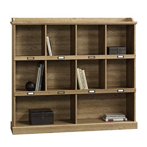 "Sauder 414726 Barrister Lane Bookcase, L: 53.15"" x W: 12.13"" x H: 47.52"", Salt Oak finish"
