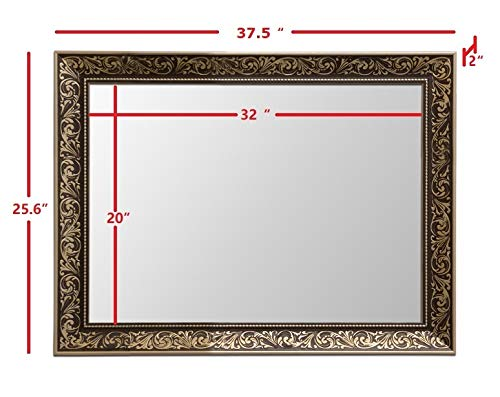 "Vanity Bathroom Mirrors for Wall (38""x26"")"