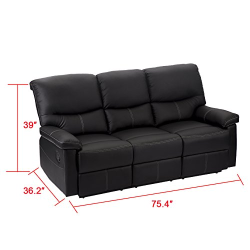 2 Set Sofa Loveseat Chaise Couch Recliner 2 Leather Living Room Furniture PR