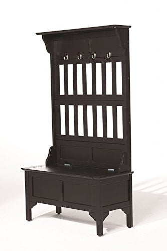Black Hall Tree & Storage Bench by Home Styles