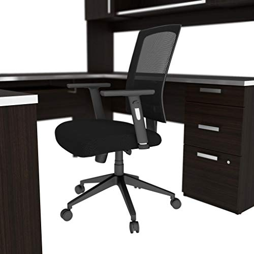 Bestar U-Shaped Desk with Pedestal and Hutch - Ridgeley