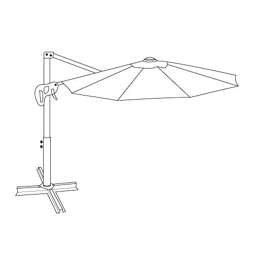 Le Papillon 10 ft Cantilever Umbrella Outdoor Offset Patio Umbrella Easy Open, Tilt & 360 Swivel for Desired Shade All Day