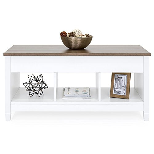 Best Choice Products Multifunctional Modern Lift Top Coffee Table Desk Dining Furniture for Home, Living Room, Décor, Display w/Hidden Storage and Lift Tabletop - Espresso