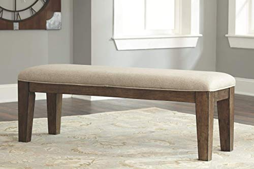 Ashley Furniture Signature Design - Moriville Counter Height Dining Room Bench - Grayish Brown