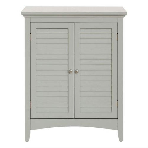 Elegant Home Fashions Double Door Floor Cabinet in Gray