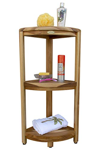 EcoDecors Oasis Corner Shelf, Natural