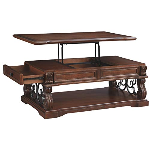 Ashley Furniture Signature Design - Alymere Sofa Table or Entertainment Console - Rectangular - Rustic Brown