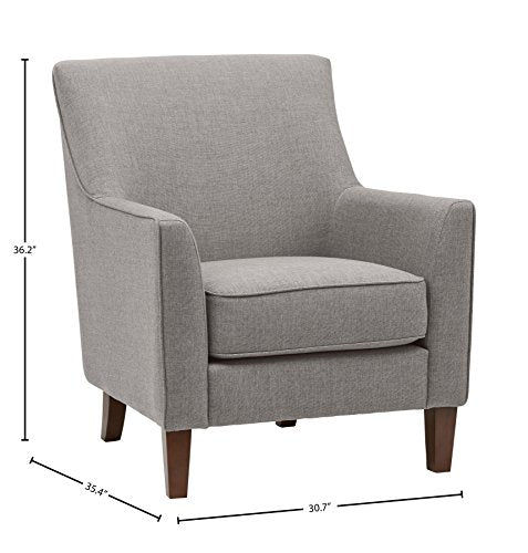 "Stone & Beam Cheyanne Modern Accent Arm Chair, 31""W Cobblestone"
