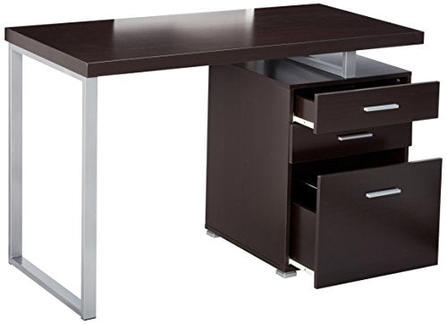 Office Desk with File Drawer and Reversible Set-Up Weathered Grey