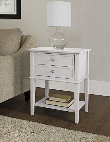 Ameriwood Home Franklin Accent Table with 2 Drawers, Red