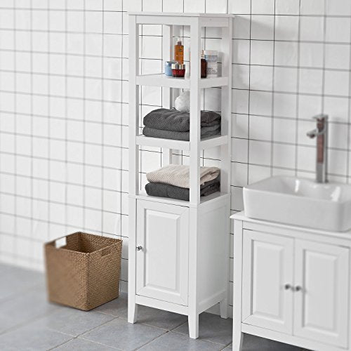 Haotian Bathroom Vanity Set White Bathroom Storage Cabinet with Drawer and Double Shutter Door (FRG238-W)