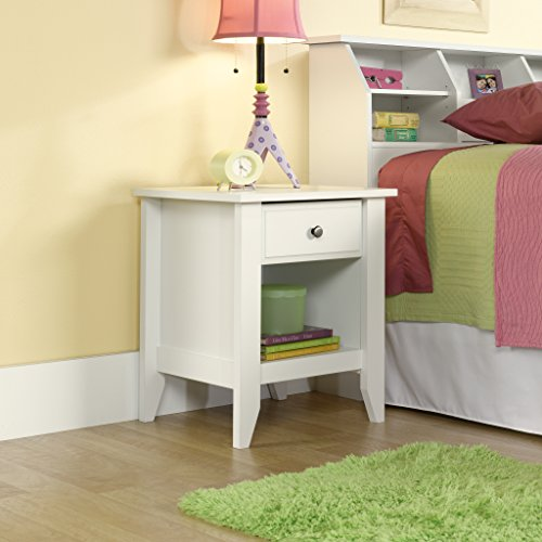 "Sauder 411200 Shoal Creek Night Stand, L: 20.87"" x W: 17.48"" x H: 24.06, Soft White finish"