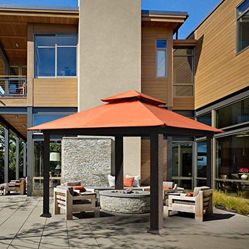 EliteShade 12x12 Sunbrella Titan Patio Outdoor Garden Backyard Gazebo (Sunbrella Cocoa)