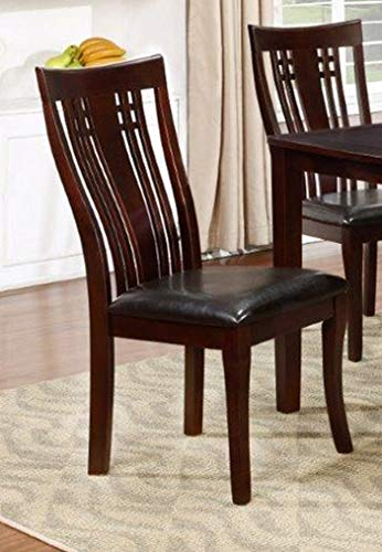 GTU Furniture 7-Piece Cappuccino Dining Room/Kitchen Table Set, 1 Table with 6 Chairs