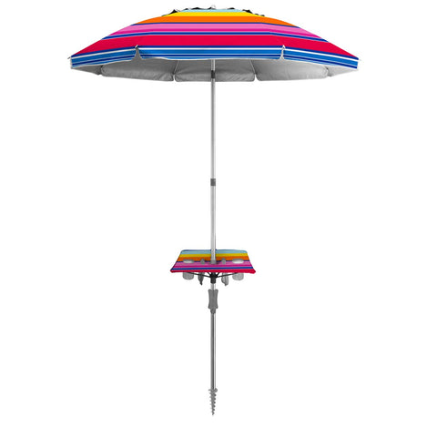 Shade Mate 7ft Vented Beach Umbrella w/Instant Table & Anchor - Tropicana