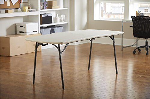 "Cosco 14687WSP1X Products Diamond Series 300 lb. Weight Capacity Folding Table, 6' X 30"", White Speckle"
