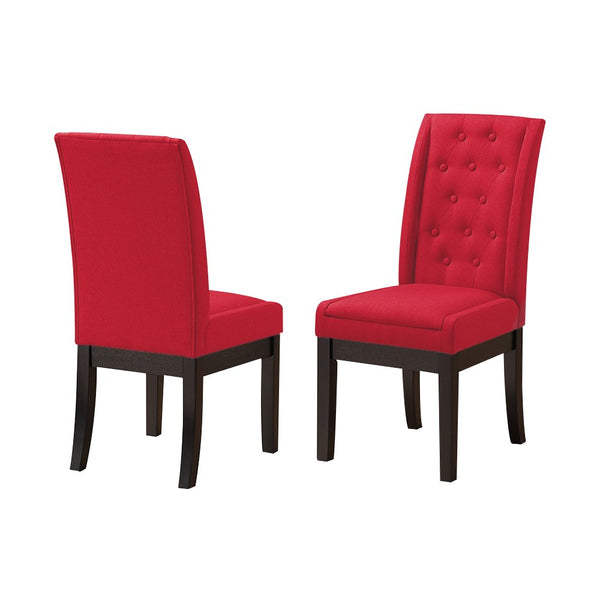 Kings Brand Furniture Kitchen Dinette Dining Room Side Chairs (Set of 2), Red, Red