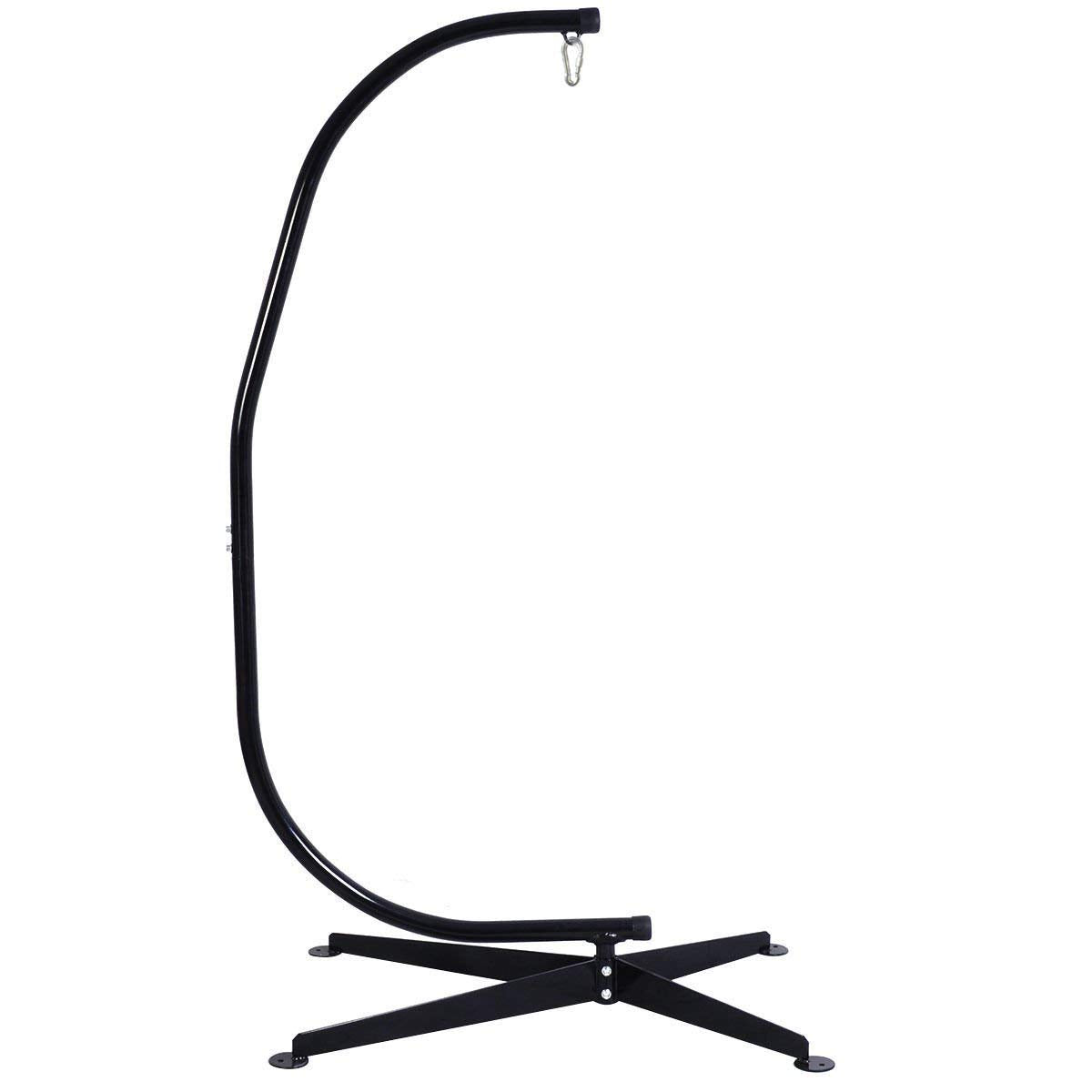 Giantex Hammock Stand, Hanging Hammock Chair C Stand Solid Steel Construction for Hammock Air Porch Swing Chair