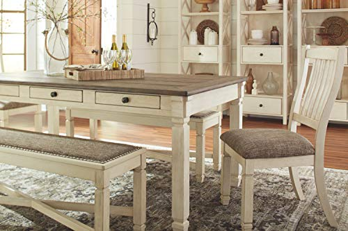 Signature Design by Ashley D583-25 Whitesburg Collection Dining Room Table, Brown/Cottage White