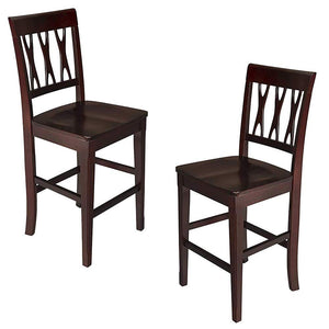 New Classic Furniture 04-0640-020 Abbie Counter Chair, Set of 2, Bordeaux
