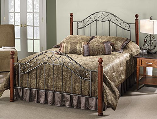 Hillsdale Furniture 1392BFR Martino Bed Set with Rails, Full, Smoke Silver