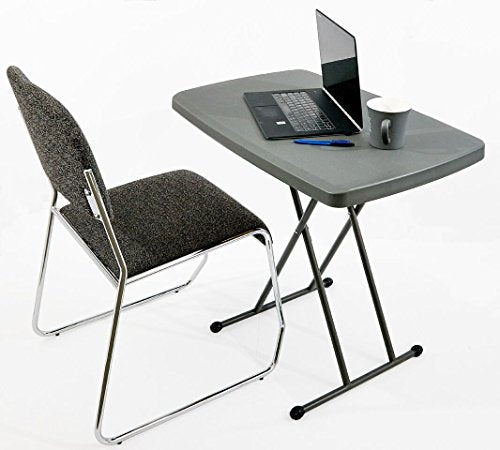 Iceberg 65491 Indestructible Too 1200 Series Resin Personal Folding Table 30 x 20 Charcoal