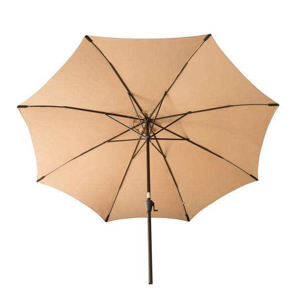 FLAME&SHADE 11' Outdoor Patio Umbrella Large Market Style for Balcony Outside Table Deck or Backyard, Beige