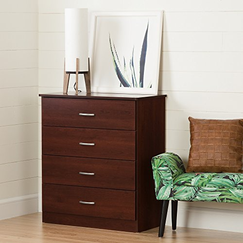 South Shore Libra 4-Drawer Chest, Gray Oak