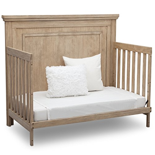 Simmons Kids SlumberTime Paloma 4-in-1 Convertible Baby Crib, Rustic Driftwood
