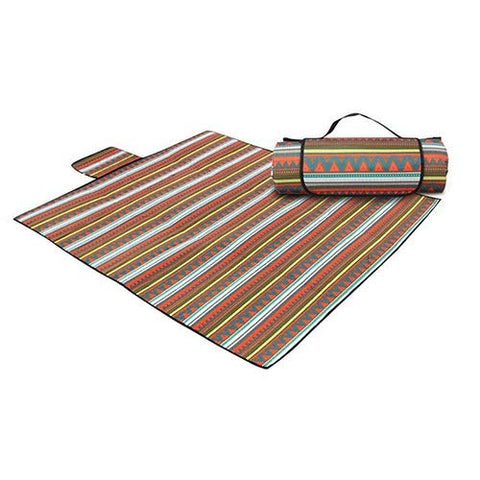 WSJF Outdoor Mat,Picnic Blanket Mat, Foldable Table Cloth for Families, Waterproof Pad, Outside Beach Blankets for Park, Camping, Yard, Lawn, Sand,220cm210cm