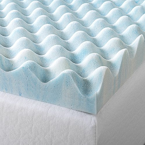 Zinus 3 Inch Swirl Gel Memory Foam Air Flow Topper, Full