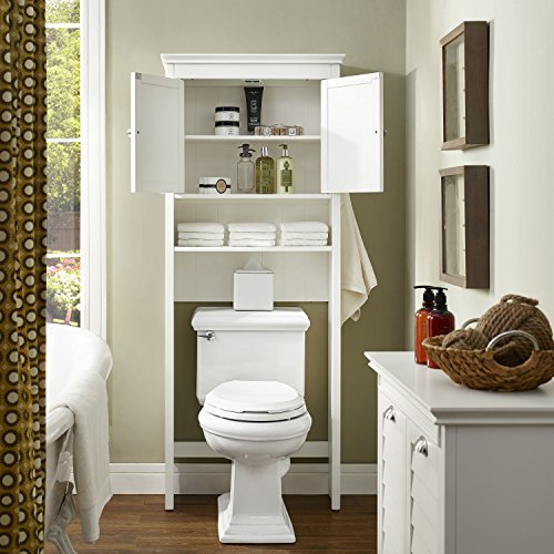 Crosley Furniture Lydia Space Saver Bathroom Cabinet - White