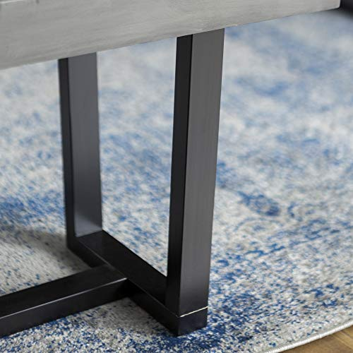 "WE Furniture AZ60SWDGY Dining Bench, 60"", Grey"