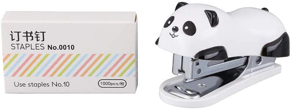Cute Panda Mini Desktop Stapler, Home Stapler with 1000 Staples